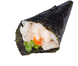 scallop-hand-roll